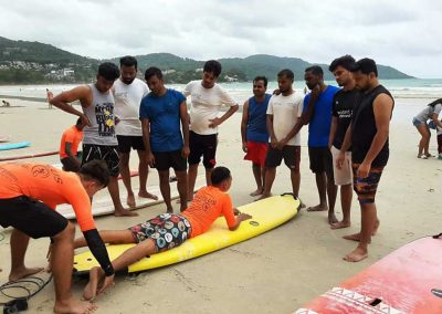 Phuket Surfing Surf Class Learning Basics On The Beach In Kata